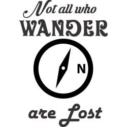 Not all who wander are lost sticker / decal for Cars, SUVs, laptops, motorcycles